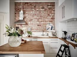Kitchen Partition Wall Designs Create An Elegant Statement With A White Brick Wall Exposed