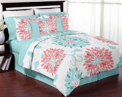 Seafoam Green And Coral Bedroom Bedroom Rose Gold Comforter Coral Bedspread Coral Comforter