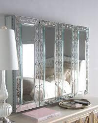 Decorative Flat Screen Tv Covers Venetian Style Mirrored Flat Screen Tv Wall Cabinet