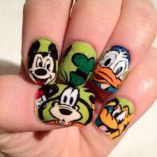 easy nail art characters disney nails from naileddaily blogspot com disney nails