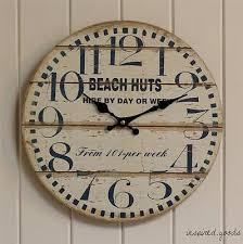 large distressed wall clock extra large cream wall clock