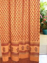 Orange And Beige Curtains India Curtain Panel Paisley Orange Saffron Marigold