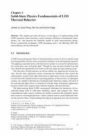 solid state physics fundamentals of led thermal behavior springer