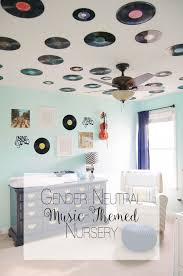 gender neutral music record themed navy teal grey chevron