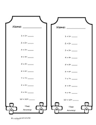 doubles fact timed tests for addition and subtraction doubles fact tpt