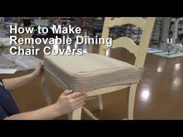 How To Make Seat Cushions For Dining Room Chairs How To Make A Kitchen Chair Seat Cover Chair Covers Dining