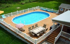 above ground pool with deck above ground pool vinyl deck kits