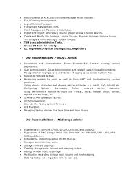 Modify Resume Aix Administator Resume