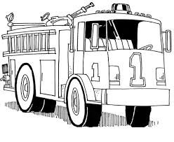printable fire truck coloring funycoloring