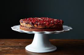 double layer cranberry ginger upside down cake recipe on food52