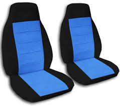 jeep blue and black two tone car seat covers front semi custom black u0026 red yellow