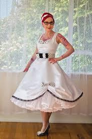 1950s pin up u0027audrey u0027 wedding dress in a with polka dot bodice
