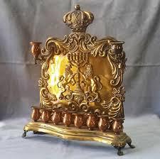 antique menorah antique 19th century hanukkah menorah poland warsaw copper from