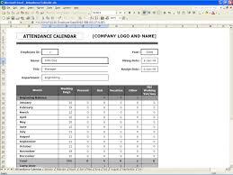 staff planner template attendance calendar excel templates attendance calendar