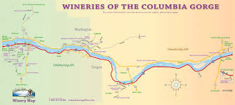 map of oregon wineries sidestreet sle columbia gorge wine