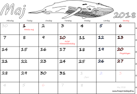 Kalender 2018 Helgdagar Maj 2018 Namnsdagar Veckonummer Gratis Utskrivbara Pdf