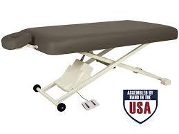 oakworks electric massage table proluxe flat top electric lift tables oakworks