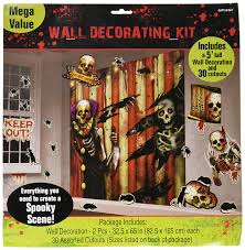 halloween scene setters room rolls amazon com amscan creepy carnival halloween trick or treat party