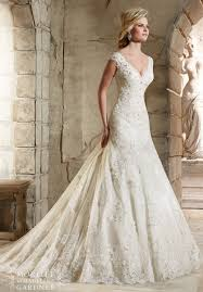 fit and flare wedding dress mori bridal 2785 lace fit and flare wedding dress