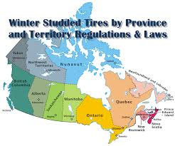 map of the provinces of canada winter studded tire regulations canada canadian the grid