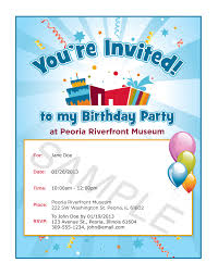 Sample Invitation Card For An Event Plan Your Visit Event Rentals Birthday Parties Peoria