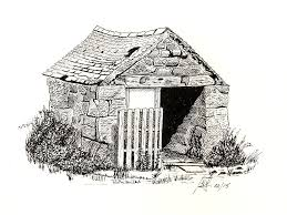 drawn barn pen and ink pencil and in color drawn barn pen and ink