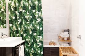 Shower Curtain Green Palm Leaf Shower Curtain Decorative Things