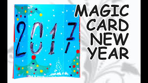 diy crafts how to make magic card new year card 2017 diy