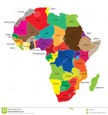 Africa Map by Map Of Africa Royalty Free Stock Photos Image 18842968