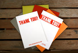 personalized thank you cards screenprinted thank you card