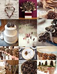 pine cone decoration ideas pine cone wedding decoration ideas the wedding community