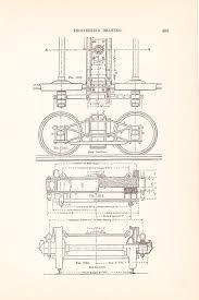 Blueprint Math by 1886 Technical Drawing Railroad Car Antique Math Geometric