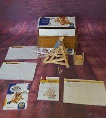 vintage siege vintage wooden trebuchet siege machine boxed ebay