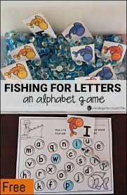 Fish And Game Table Fishing For Letters An Alphabet Game Alphabet Games Fish And