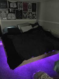 Led Bed Frame Diy Project Floating Bed Frame With Led Lights