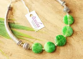 green agate necklace images Spring green agate gemstone artisan handmade necklace at 1850 jpg