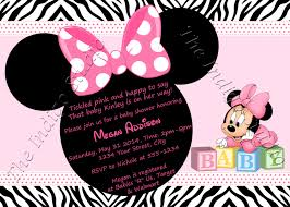 Minnie Mouse Baby Shower Invitations Templates - invitation minnie mouse baby shower invitation template