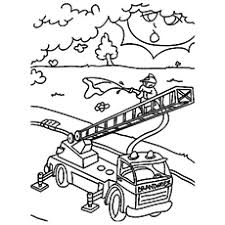 firefighters coloring pages funycoloring