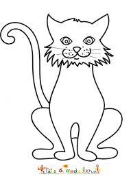 autre dessin du grand chat coloriage chat tête à modeler