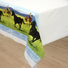 Party Table Covers Horse Party Table Cover