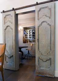 How To Make A Barn Door Track Vintage Doors On Door Track Hardware So French Country Bathroom