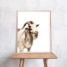 Goat Home Decor Goat Wall Goat Home Decor Goat Print Goat Goat