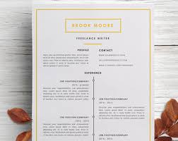 Freelance Writer Resume Sample by Professional And Modern Resume Templates By Caferesume On Etsy