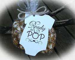 C Favors by Ready To Pop Baby Shower Favor Kits 3 Tag Colors Popcorn