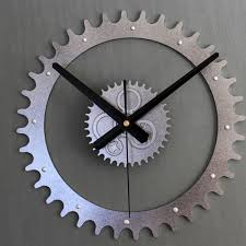 acrylic metal tone wall clock 3d diy creative gear clock modern