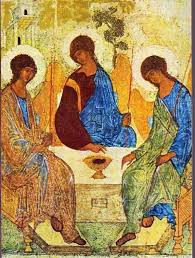 angels at the table enjoy the hospitality of the trinity with rublev s icon soul