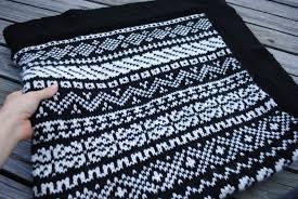 fair isle knit blanket knit