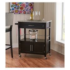 industrial iron wood kitchen trolley natural black buy kitchen cameron granite top kitchen cart wood black linon target