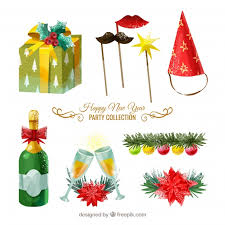 new year items new year items pack vector free