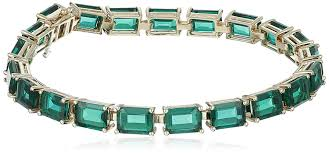 emerald bracelet images 10k yellow gold and created emerald bracelet 7 jpg